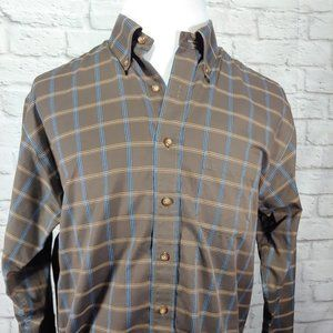 Brooks Brothers Non Iron Button Down Brown Check